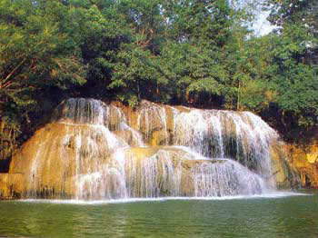 Ai Yok waterfall on the River Kwai, rent, studio apartments, View Talay Pattaya Thailand