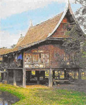Maisons traditionnelles tha lande for Maison traditionnelle laos