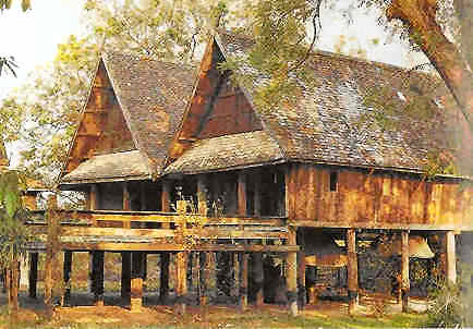 Traditional houses thailand for Thai classic house 2